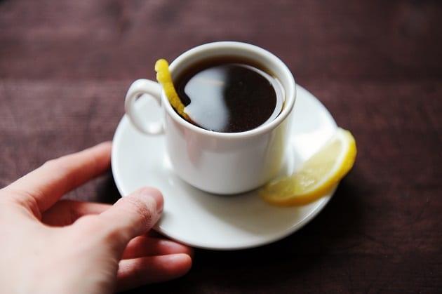 กาแฟดำใส่มะนาว
